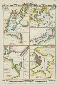 Various plans and draughts of cities, towns, harbours  / drawn from the latest authorities ; T. Conder, sculpt. ([1778]) #map #NewYork #Boston #Charlestown #Havana #Philadelphia