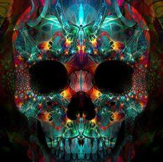 5D DIY Diamond Painting. Transparent Aqua Skull. Square drill, 3 kit sizes to pick from.