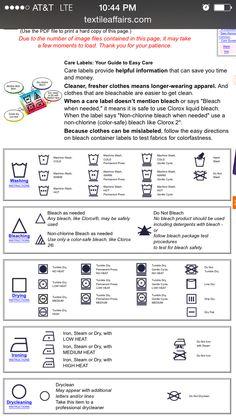 Laundry Care Symbols on Pinterest