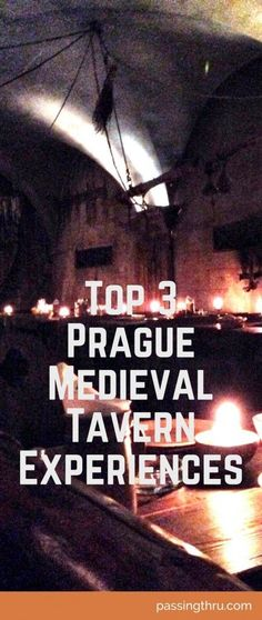 """A top """"to do"""" on many Prague travelers lists is a night out at a medieval tavern with food, music, exotic dancing! #Medieval #Tavern #Prague #Czech #Europe #Travel"""