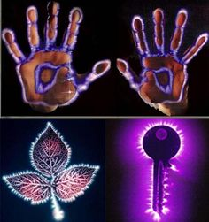 This Is What Called Kirlian Photography Which Can Be Used To View A Living