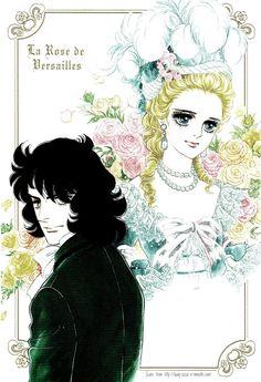 Riyoko Ikeda illustration (Versailles no bara) Manga Love, Anime Love, Anime Manga, Anime Art, Lady Oscar, Disney Images, Anime Princess, Manga Artist, Manga Illustration