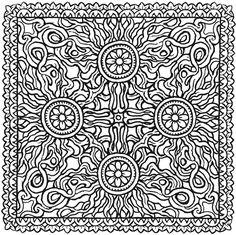 Welcome to Dover Publications / Creative Haven Square Mandalas Coloring Book / Alberta Hutchinson