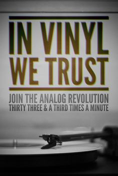 """""""In Vinyl We Trust"""" Ha! Here at Vinyl Warehouse we love vinyl. no matter what form it takes and yep, for sure 'in vinyl we trust' :D Vinyl Music, Lp Vinyl, Vinyl Records, Vinyl Room, Music Is Life, My Music, Dance Music, Vinyl Junkies, Record Players"""