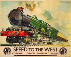 Speed-West-Great-Britain-Vintage-Travel-Advertisement-Poster-Picture-Print