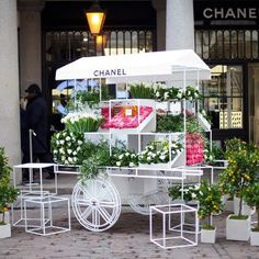 Uwielbiamy stoisko z kwiatami Chanel ustawione w Covent Garden na dzień matki! ♥