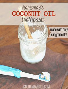 Homemade Coconut Oil Toothpaste is an excellent alternative to chemical filled store-bought toothpaste. Contains coconut oil, baking soda, Stevia, and oil.