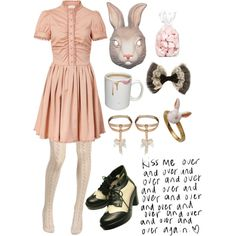 ❤ Bun Bun ❤ by kochana-klaudia on Polyvore featuring moda, RED Valentino, Betsey Johnson, Heather and Retrò