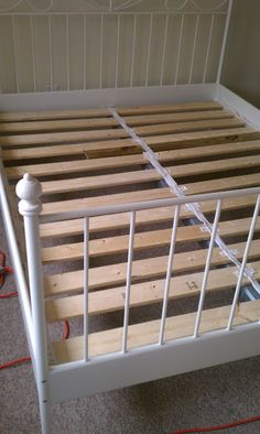 bed slats on pinterest kitchen shutters folding bed frame and ikea bed. Black Bedroom Furniture Sets. Home Design Ideas