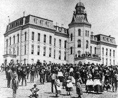 On May 1, 1867 Howard University ( named for General Oliver O. Howard), opened its doors and began accepting students