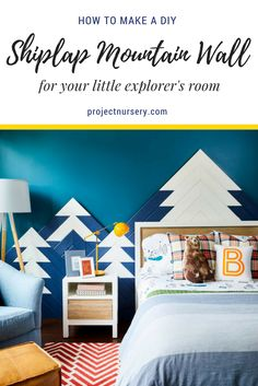 Mountain walls are trending this year and this DIY version is one we're loving!