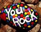 RESERVED for Alice Jally OOAK Beautiful Glossy Hand Painted Zendoodle Rock Designed and Created By Kat