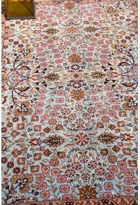 Wool Decorative Recreations,The Carpet Cellar,Indo Dabeer Kashan<br>A-1300<br>6.1 Feet X 3.11 Feet