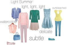 Light Summer - an excercise by silverwild, via Polyvore