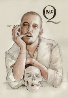 Illustration: Alexander McQueen ~ Illustration by Helen Green