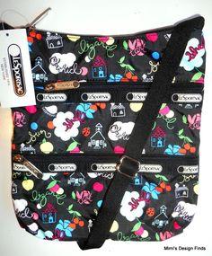 LESPORTSAC Kylie Crossbody Bag *NEW* School's Out Print Black Trim Adj Strap NWT #LeSportsac #MessengerCrossBody