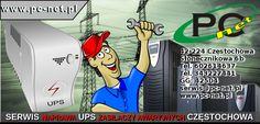 www.pc-net.pl Świadczymy również usługi z zakresu naprawy zasilaczy awaryjnych (UPS) różnych producentów, wymieniamy oraz dobieramy odpowiednie baterie. Dojeżdżamy na miejsce do urządzenia, wyceniamy koszty naprawy. W swoim zespole posiadamy doświadczonych techników, zapewniamy profesjonalne wykonanie naprawy oraz gwarantujemy korzystne ceny. 42-224 Częstochowa  Słonecznikowa 6b Tel. 602614637 Tel. 343227441 GG: 42504 serwis@pc-net.pl
