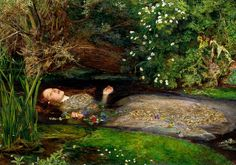 Ophelia - John Everett Millais, 1851-52, Oil on canvas, 76.2 cm × 111.8 cm, Tate Britain, London