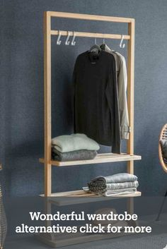 Cool clothes rail ideas #wardrobealternatives #clothesrail @gardentrading Clothes Rail, Classic Interior, Timeless Classic, Wardrobe Rack, Ladder Decor, Small Spaces, Cool Outfits, Alternative, Design Ideas