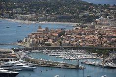 Guide to Antibes on the French Riviera in the South of France: Aerial view of Antibes, Cote d'Azur