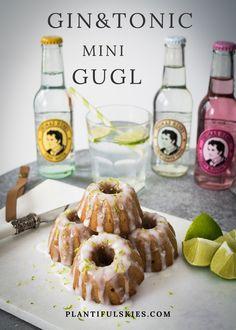 Diese veganen Mini Gugl mit Gin&Tonic sind das ideale Mitbringsel für die Gartenparty, die Einladung zu Kaffe und Kuchen oder einfach nur so zum wegnaschen....