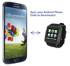 SmartWatch (Black Case & Black Strap) : Smartwatch (Sync calls to iPhones,Android Phones,Bluetooth Phones).Quad-Band GSM Bluetooth Cell Phone,Music&Video Multimedia Player,FM radio,Camera.(Includes 8GB Flash,& Micro/Nano-to-Mini SIM Card Adapters)   Operating Frequency: GSM 850/900/1800/1900 Smart Bluetooth allows connection to iPhone, Android or Bluetooth phone, providing capability to answer or