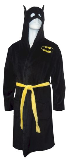 Batman Logo Super Soft Plush Robe Perfect for every Batman fan! These ultra soft 100% polyester plush hooded robes for men have...
