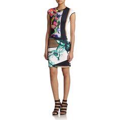 Rank & Style - Clover Canyon Liquid Jade Sheath Dress #rankandstyle