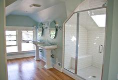 attic master suite transformation http://kellyraeroberts.blogspot.com/2010/07/home-renovation-update.html#.T8bJks2JmFx