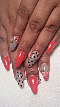 Coffin Nails #nail #nails #nailart #unha #unhas #unhasdecoradas