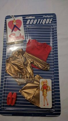 NEW MOC vintage sindy boutique metallic mover outfit | eBay