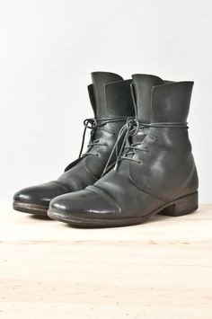 cordovan leather lace-up boot — re. porter