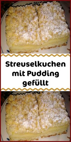 Crumble cake filled with pudding - Ingredients For the shortcrust pastry 250 g flour 120 g soft butter 1 pinch (s) salt 1 packet of va - Easy Vanilla Cake Recipe, Homemade Vanilla, Easy Cookie Recipes, Cake Recipes, Dessert Recipes, Pudding Vanille, Pudding Ingredients, Cake Ingredients, Shortcrust Pastry