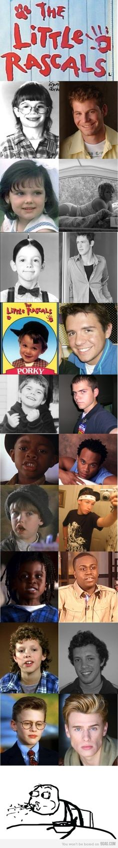 Little Rascals all grown up  --HOW DID SPANKY END UP WORKING AT WALMART????