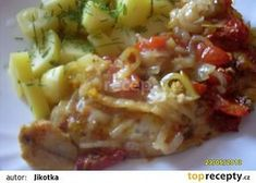 Rybí filé po cikánsku recept - TopRecepty.cz Pos, Cabbage, Cooking Recipes, Meat, Chicken, Vegetables, Fitness, Kochen, Beef