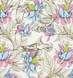 The Sea Garden by Celandine Design - in pastel tones