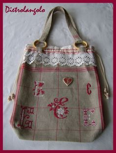 Oh My!  This is a beautiful linen bag!