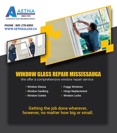 If you looking for window glass repair in Mississauga, contact Aetna Glass and Mirrors. Window Glass Repair, Window Locks, Get The Job, Windows, Window, Ramen