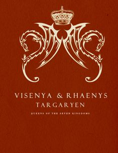 | ASOIAF :Minimalist Character Posters | Visenya & Rhaenys Targaryen  *Requested by anon