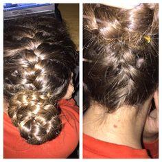 Top and underneath bun braid