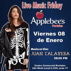Amigos Calavera! Hoy nos vemos en @applebeesgt de @portales_gt en zona 17 8PM #sacudetushuesos #juancalavera
