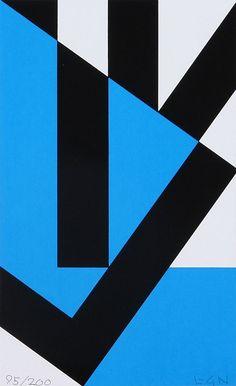 Lars Gunnar Nordstrom-blue-blackGunnar Nordstrom Blue Black, Geometric Art