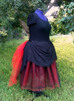 Your place to buy and sell all things handmade Plus Size Steampunk, Steampunk Skirt, Steampunk Clothing, Steampunk Fashion, Full Circle Skirts, Buy Fabric, Bold Fashion, Black Satin, Halloween Makeup