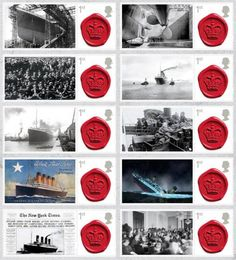 Titanic commemorative stamps, from Team Publishing.