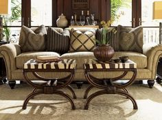 Royal Kahala Edgewater Rolled Arm Sofa With Nailhead Trim - tropical - Spaces - Other Metro - Baer's Furniture - Tommy Bahama