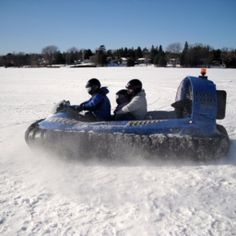 Hovercraft can fly over snow and ice - no problems if the ice breaks, hovercraft float and are happy to fly over water - www.hovercraft.org