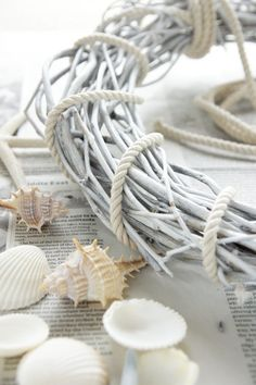 Simply Beautiful: Seashell and rope wreath