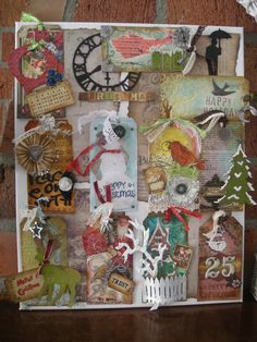 My twelve tags for Christmas a la Tim Holtz