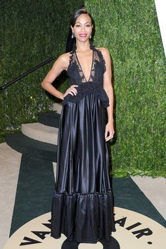 And slayed right after in Givenchy at the Vanity Fair Party - Every Single Time We Fell Head Over Heels For Zoe Saldana's Style - Photos