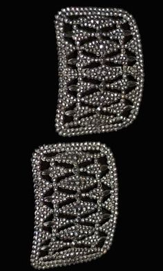 antique French marcasite shoe buckles